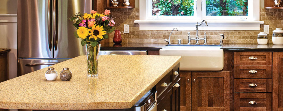 HanStone natural stone Counter tops available at Hammond Kitchens & Bath Melbourne FL