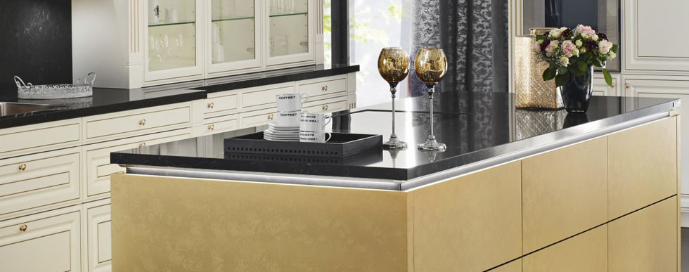 Silestone natural stone Counter tops available at Hammond Kitchens & Bath Melbourne FL