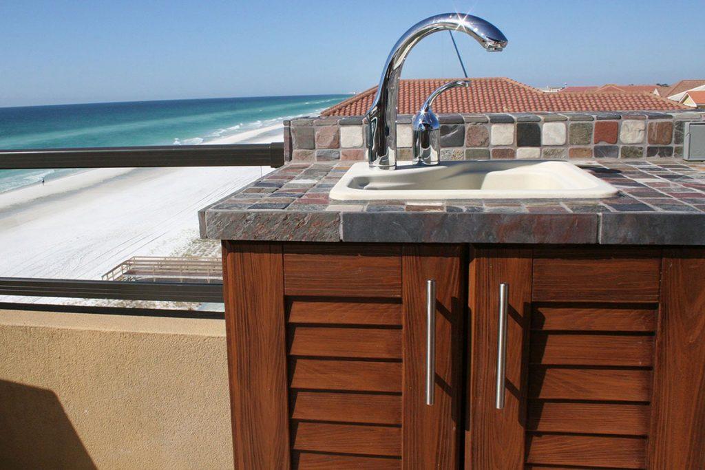 NatureKast outdoor summer kitchen cabinets in Melbourne FL by Hammond Kitchens & Bath