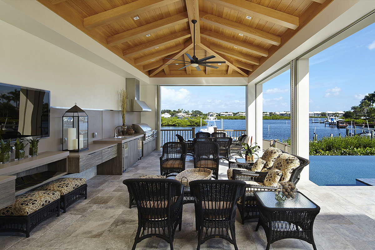 Hammond Kitchens & Bath outdoor summer kitchen cabinets installation area melbourne brevard indian river county