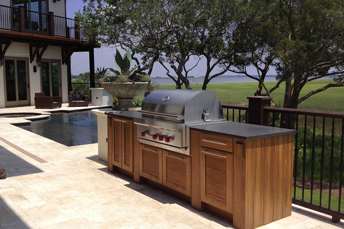 Naturekast outdoor summer kitchen cabintes in melbourne fl for Outdoor summer kitchen ideas