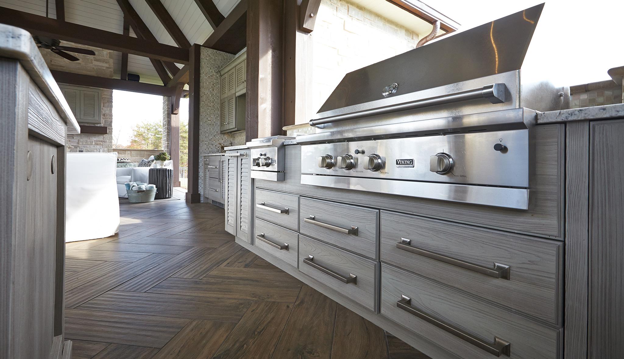 Weatherproof Outdoor Summer Kitchen Cabinets in Melbourne FL by Hammond Kitchens & Bath
