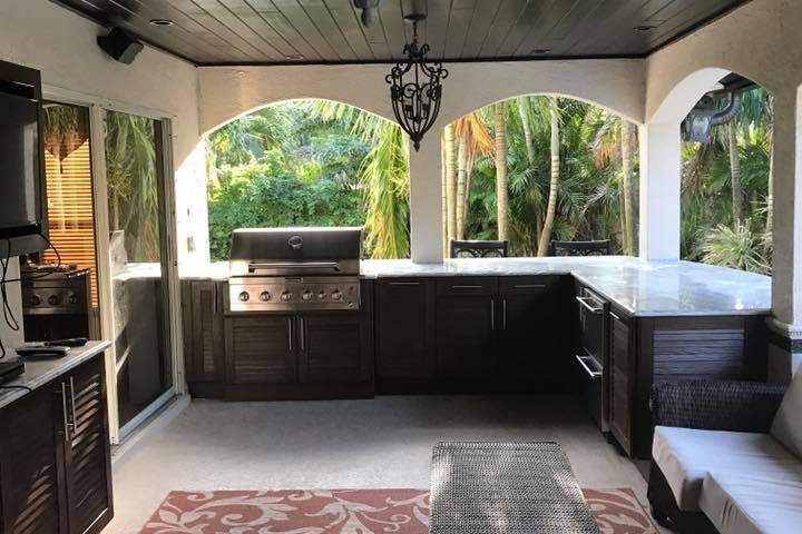 New Outdoor Kitchen Cabinets Installation in Melbourne FL NatureKast ...