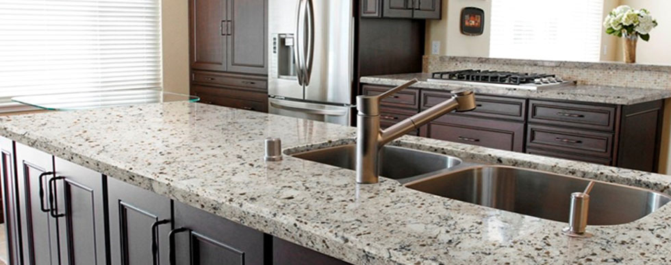 Pompeii Quartz natural stone Counter tops available at Hammond Kitchens & Bath Melbourne FL