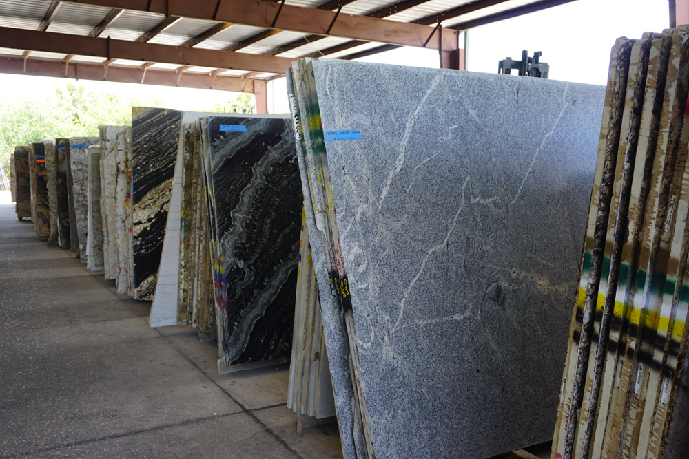 Countertop stone slab selection in Melbourne FL Hammond Kitchens & Bath