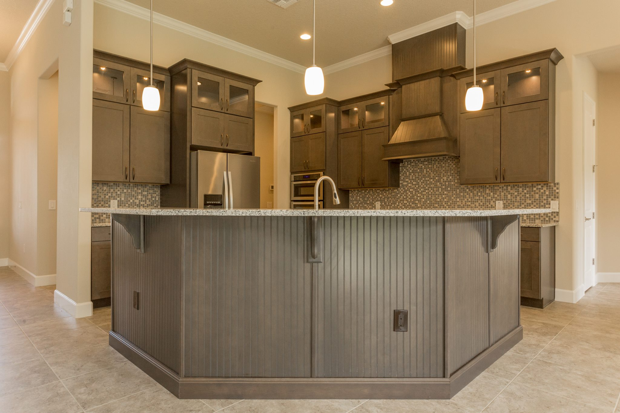 Kitchen Countertops: New Melbourne Home Kitchen And Bath With Marsh Cabinets