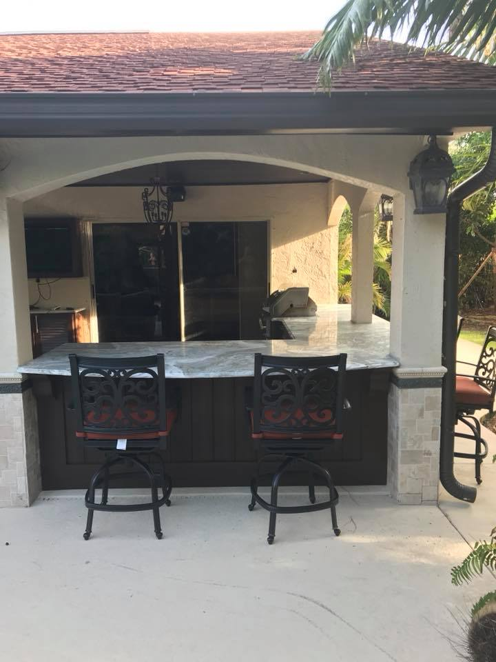 New Outdoor Kitchen Cabinets Installation In Melbourne FL