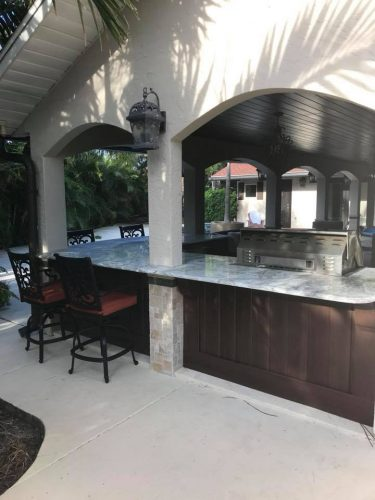 Outdoor kitchen cabinet and countertop installation in Melbourne FL by Hammond Kitchens & Bath