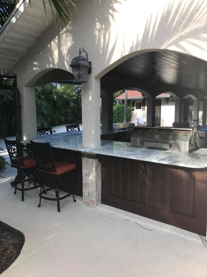 Naturekast Outdoor Summer Kitchen Cabinet Gallery: New Outdoor Kitchen Cabinets Installation In Melbourne FL NatureKast Summer Kitchens